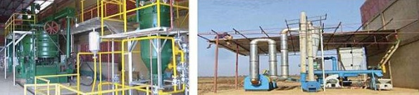 Bio-fuel and Bio-mass processing units, Agritech Faso, Boni