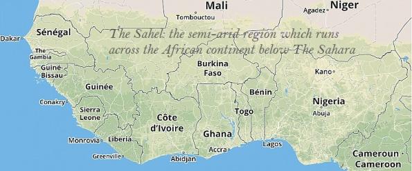 Map - The Sahel